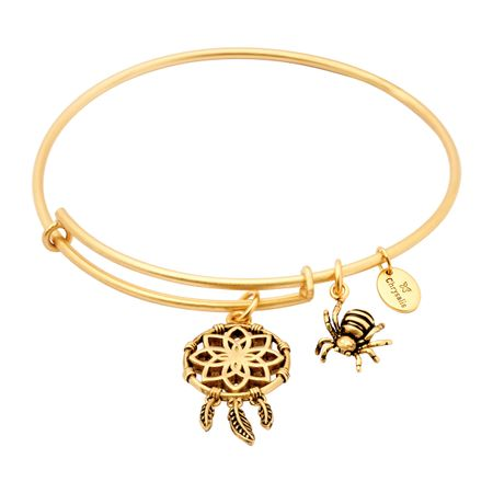 Expandable Dream Catcher Bangle, Yellow