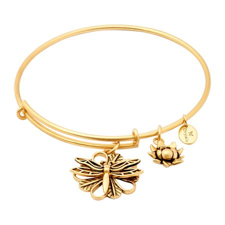 Expandable Dragonfly Bangle, Yellow