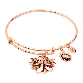 Expandable Dragonfly Bangle, Pink