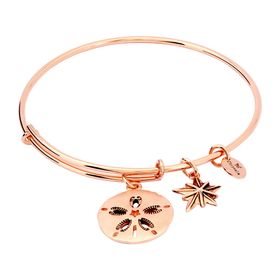 Expandable Sand Dollar Bangle, Pink