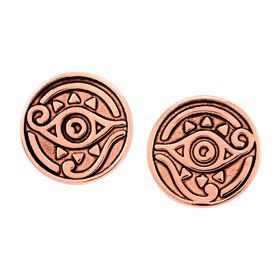 Eye of Horus Stud Earrings, Pink