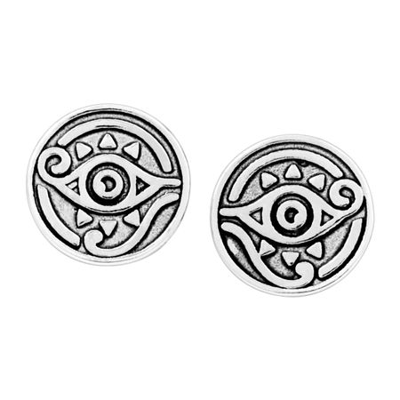 Eye of Horus Stud Earrings, White