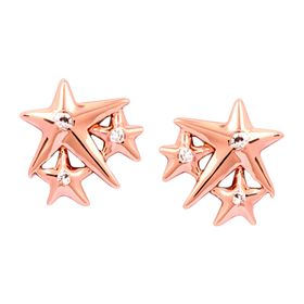 'Lucky Star' Stud Earrings, Rose