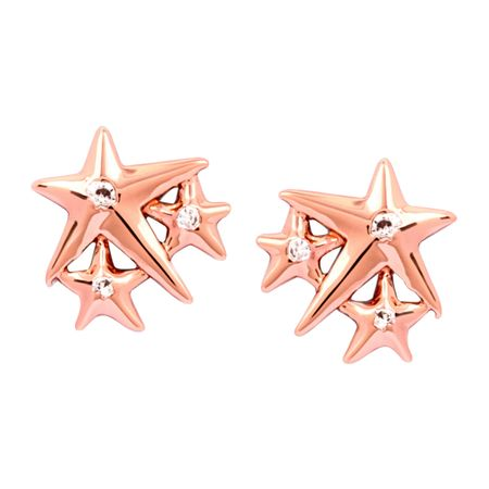 77107dbad Chrysalis Charmed 14K Rose Gold-Flashed Brass Lucky Star Stud ...