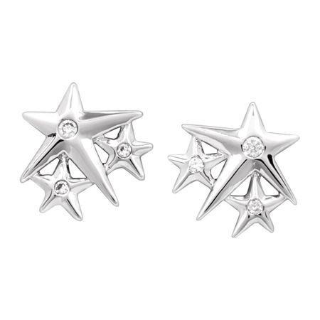 'Lucky Star' Stud Earrings, White