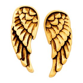 Guardian Angel Earrings, Yellow