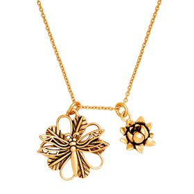 'Dragonfly' Expandable Necklace, Yellow