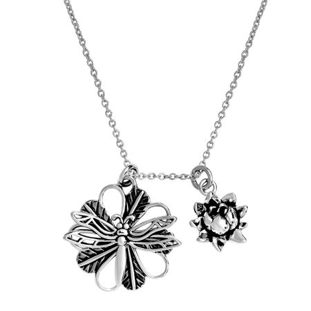 'Dragonfly' Expandable Necklace, White