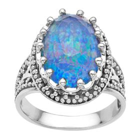 10 ct Pacific Blue Opal Quartz Ring