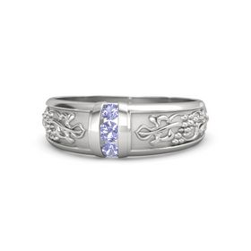 Men's Sterling Silver Ring with Tanzanite