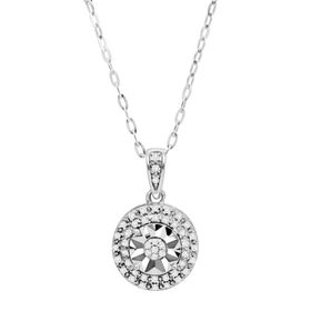 1/10 ct Diamond Double Halo Pendant