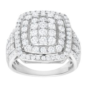 2 ct Diamond Cushion Ring
