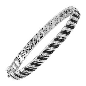 1 ct Black & White Diamond Bracelet