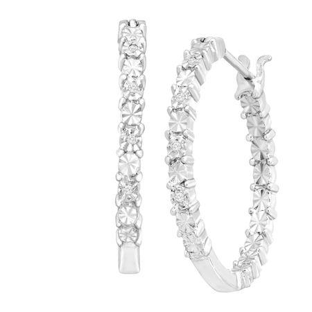 Front Back Hoop Earrings With Diamonds