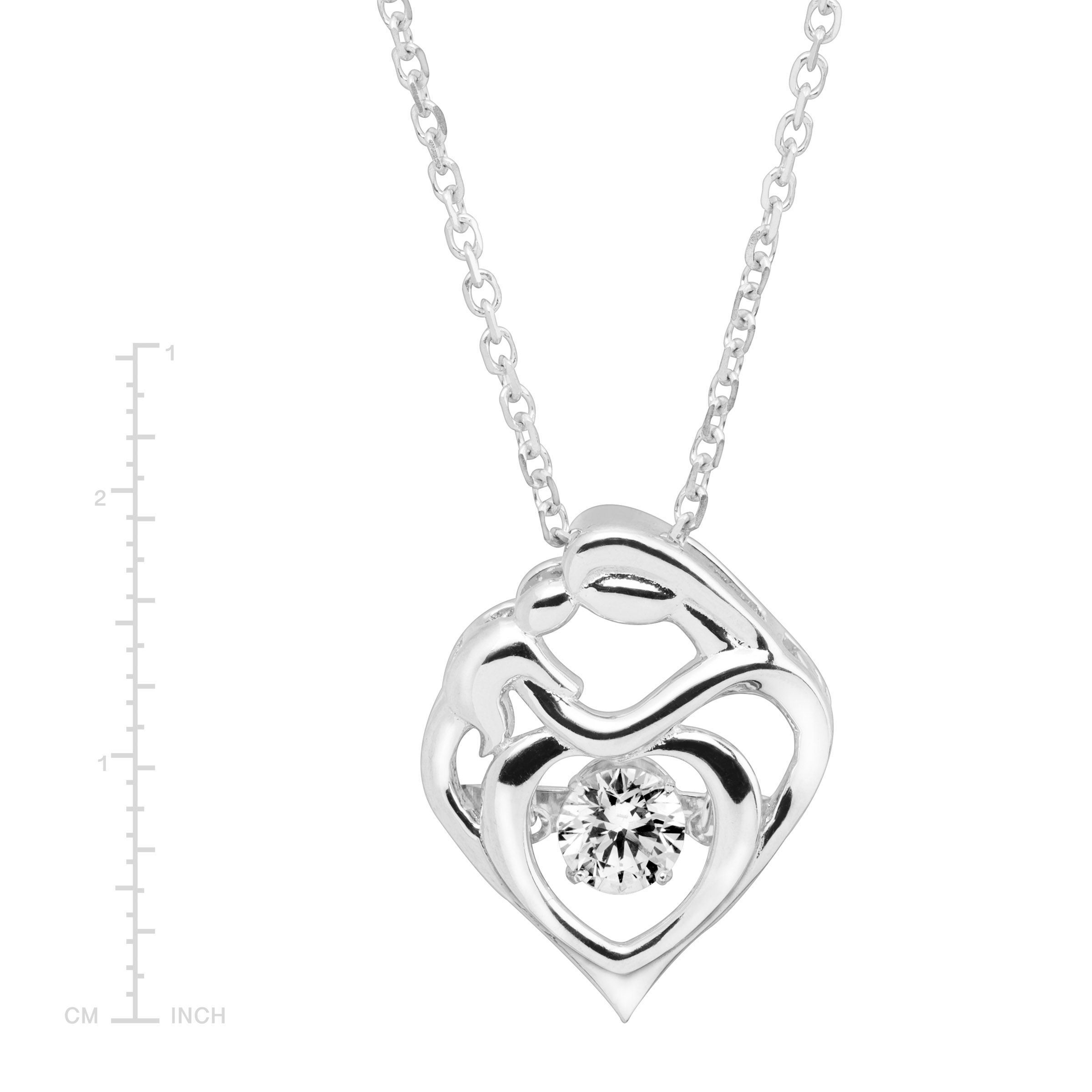 16631993e3c1c Details about Crystaluxe Mother & Child Pendant with Swarovski Crystal in  Sterling Silver