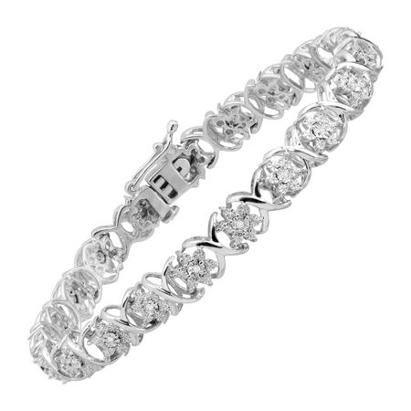 1/10 ct 'XO' Diamond Bracelet