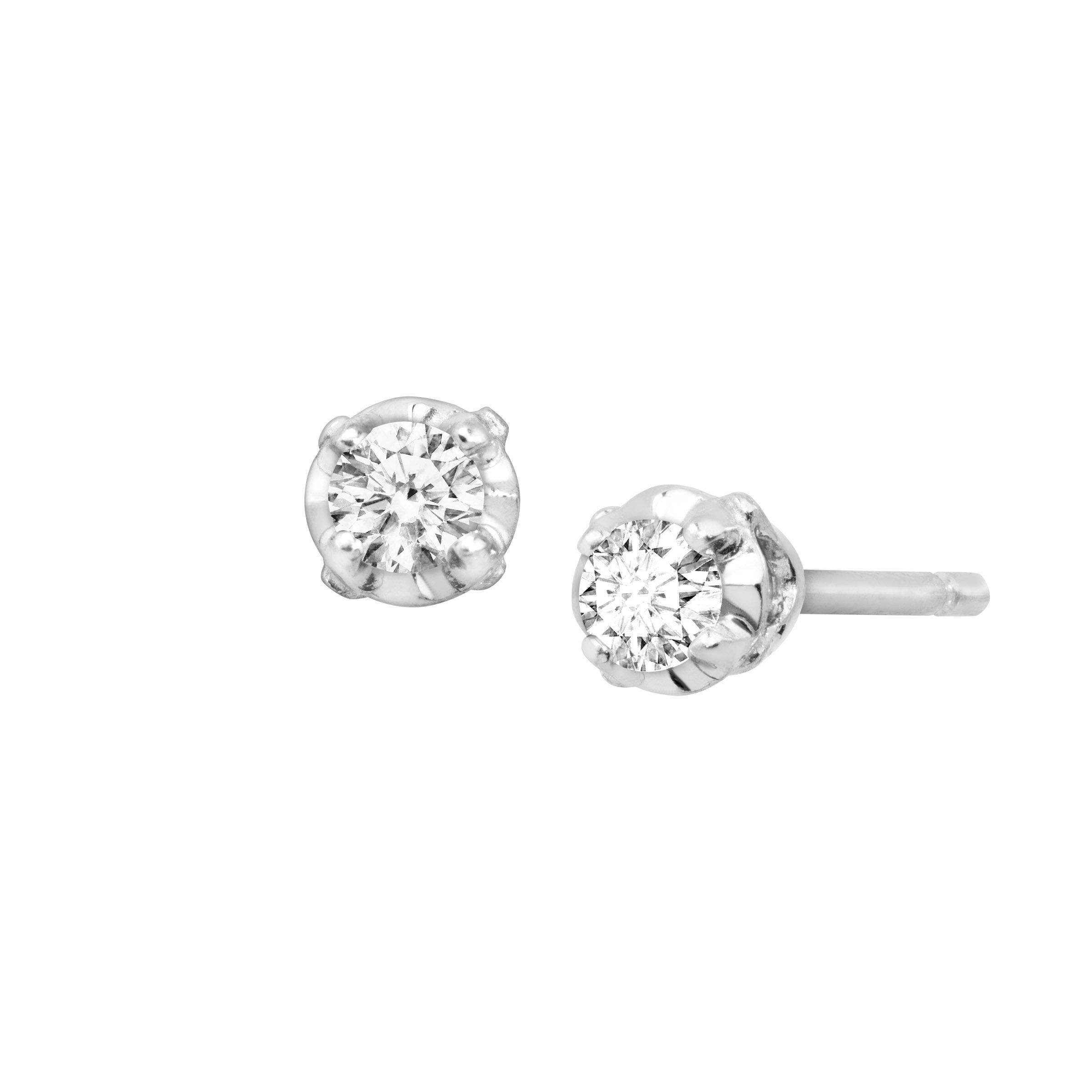 round product setting jewellery prong earrings abelini diamond stud buy