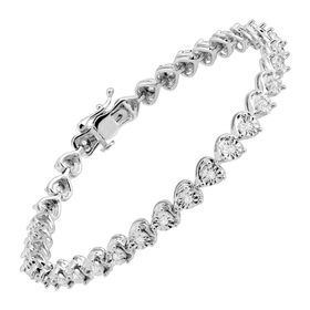 1/2 ct Diamond Heart Tennis Bracelet