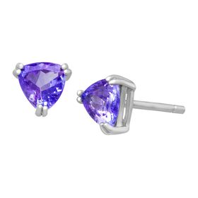 1 ct Tanzanite Trillion Stud Earrings