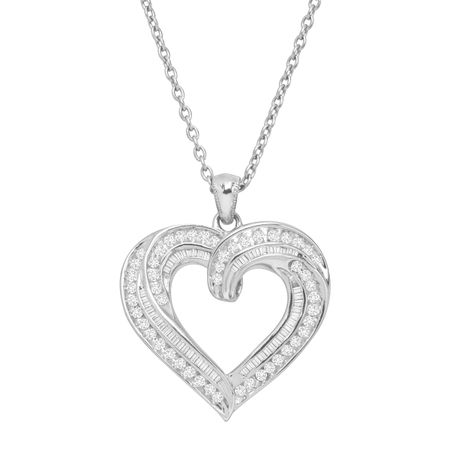 1 ct Diamond Twist Heart Necklace