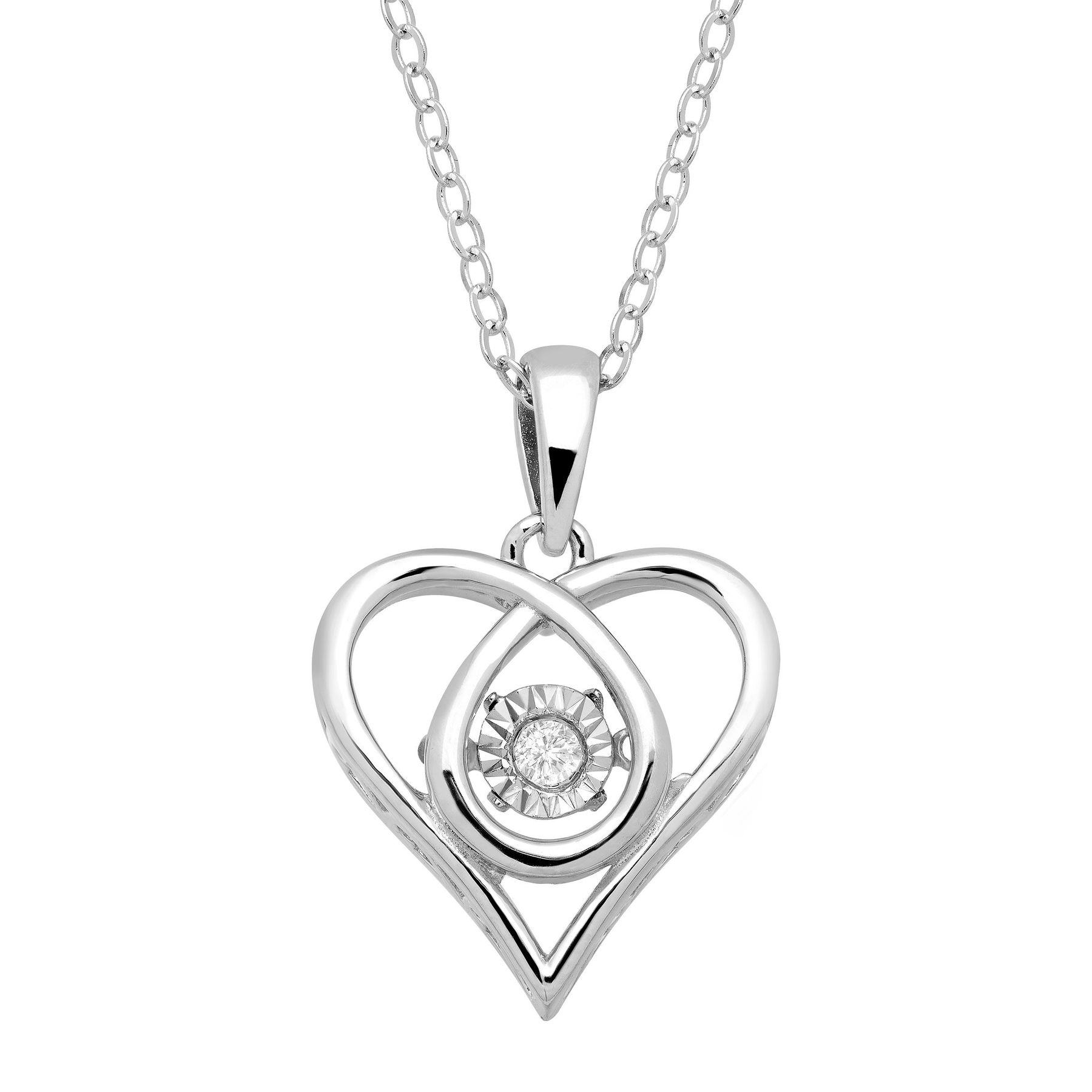 lover heart silver forever sterling dancing pendant store love han online elegant shaped necklace