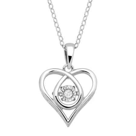 9c07c5cc7fb Dancing Heart Pendant with Diamond in Sterling Silver   Dancing ...