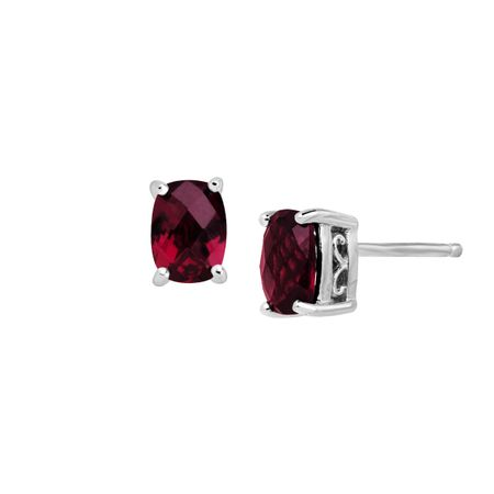 Garnet Filigree Stud Earrings