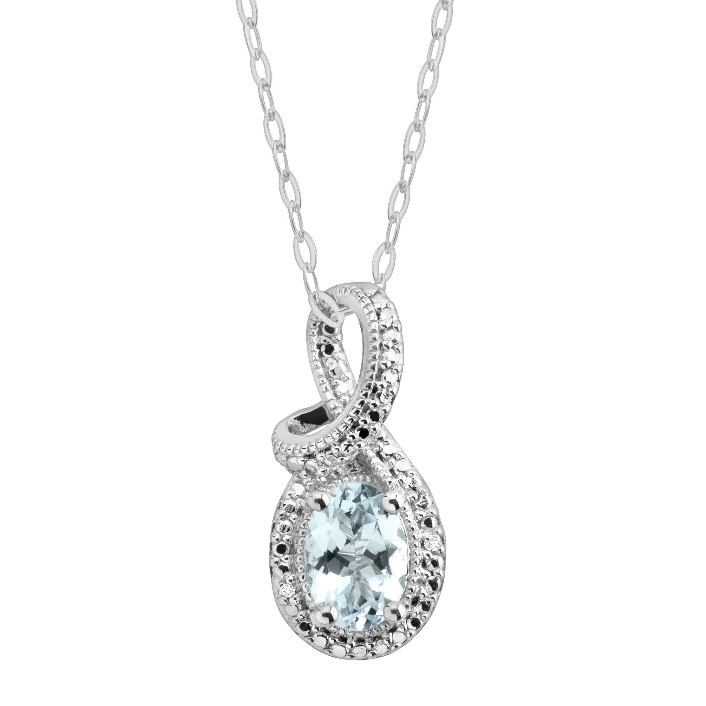 and pendant aquamarine gold diamond carrington white p