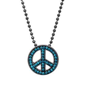 Peace Pendant with Swarovski Crystals