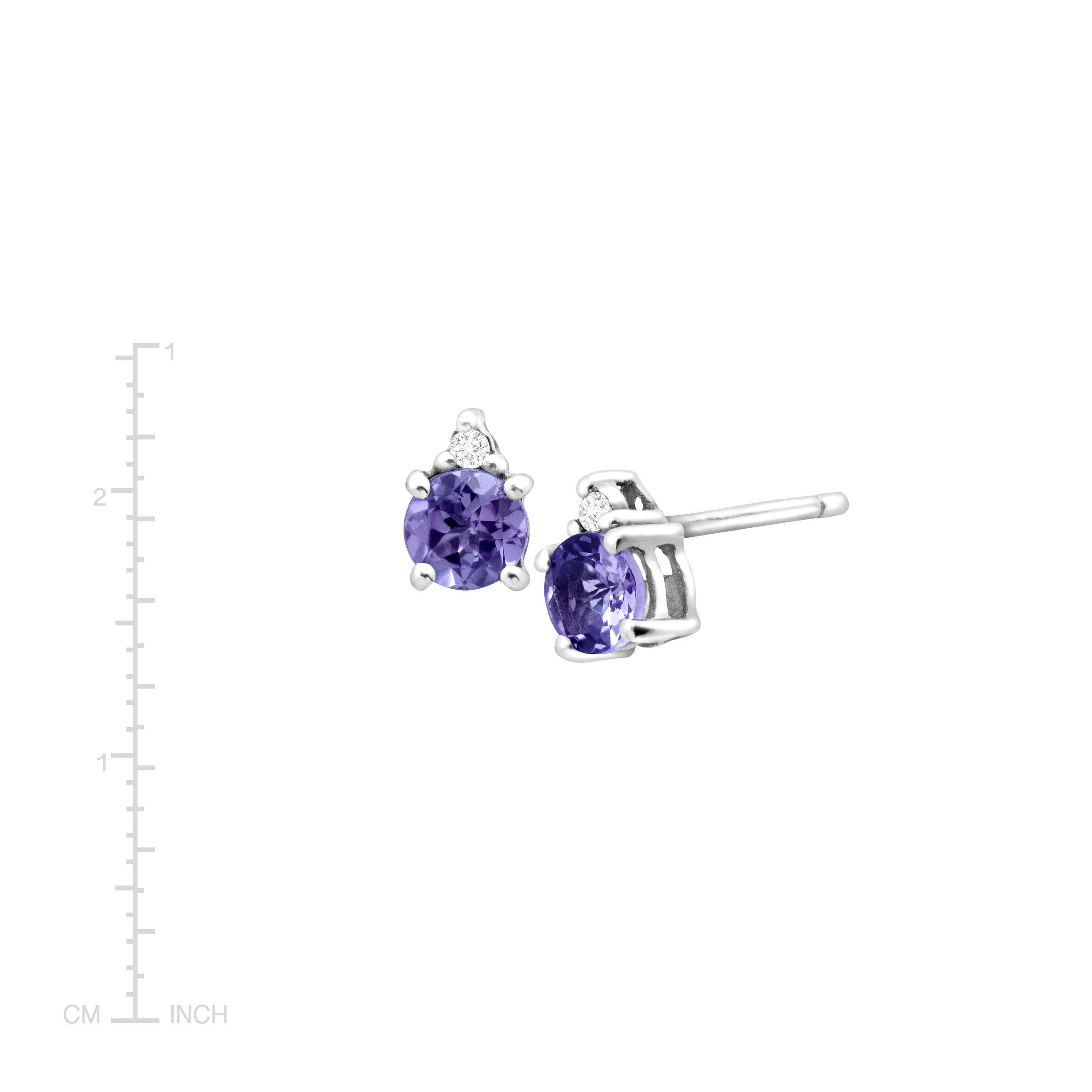 topaz white in halo itm natural tanzanite stud ct and gold earrings