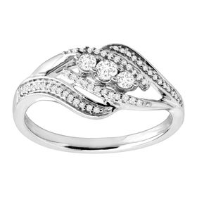 1/4 ct Diamond Bypass Ring
