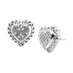 Sweetheart Earrings with Diamonds