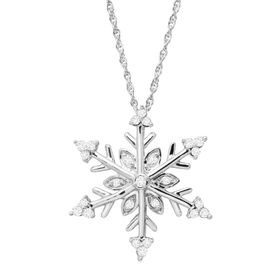 1/4 ct Diamond Snowflake Pendant