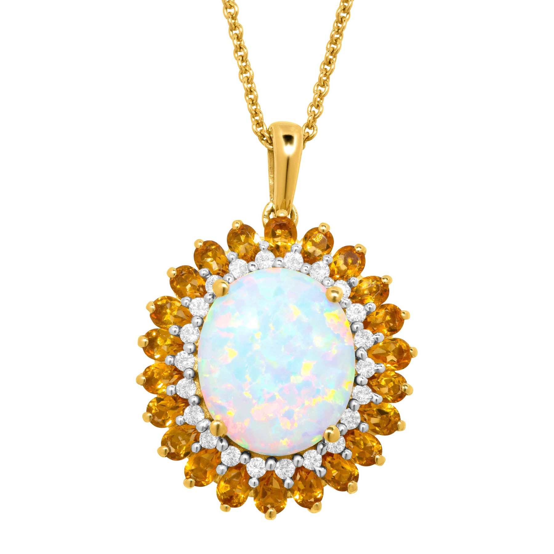 gloria opal necklace crystal rose gold product diolla white n