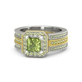 Princess Peridot 14K Yellow Gold Ring with Peridot
