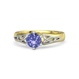 Round Tanzanite 14K Yellow Gold Ring