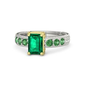 Emerald Emerald Palladium Ring with Emerald