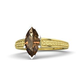 Marquise Smoky Quartz 14K Yellow Gold Ring