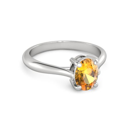 Oval Solitaire Ring