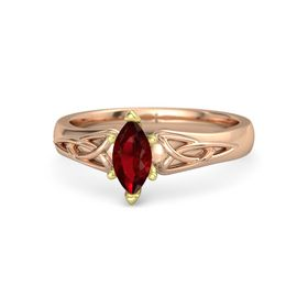 Marquise Ruby 14K Rose Gold Ring