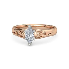 Marquise Diamond 14K Rose Gold Ring
