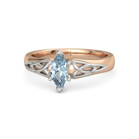 Marquise Aquamarine 14K Rose Gold Ring