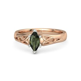 Marquise Green Tourmaline 14K Rose Gold Ring