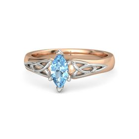 Marquise Blue Topaz 14K Rose Gold Ring
