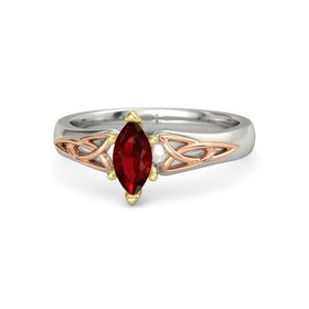 Marquise Ruby 14K White Gold Ring