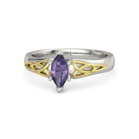 Marquise Iolite 14K White Gold Ring