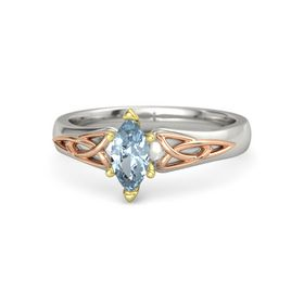 Marquise Aquamarine 14K White Gold Ring