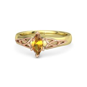 Marquise Citrine 14K Yellow Gold Ring