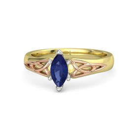 Marquise Sapphire 14K Yellow Gold Ring