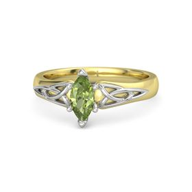 Marquise Peridot 14K Yellow Gold Ring